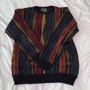 Vintage Croft & Barrow multicolor sweater SIZE M